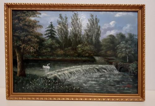 Early 20th Century Oil on Board, Signed Henry Hill (1 of 3)