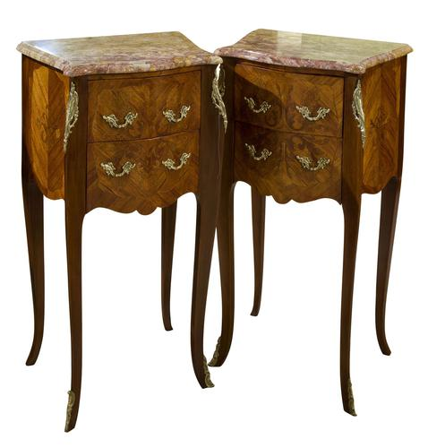 French Kingwood Bedside Cabinets (1 of 8)