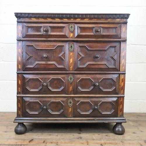Antique Geometric Oak Chest of Drawers (1 of 10)