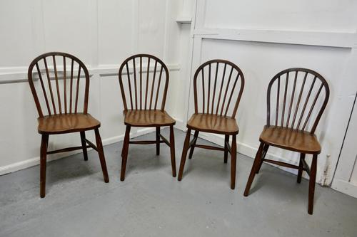 4 High Windsor Beech & Elm Hoop Back Windsor Chairs (1 of 5)