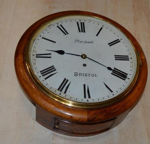 Merchant Bristol Fusee Dial Wall Clock (1 of 4)