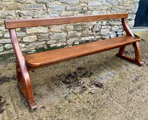 Antique Pitch Pine Gothic Style Church Pew Bench (1 of 13)