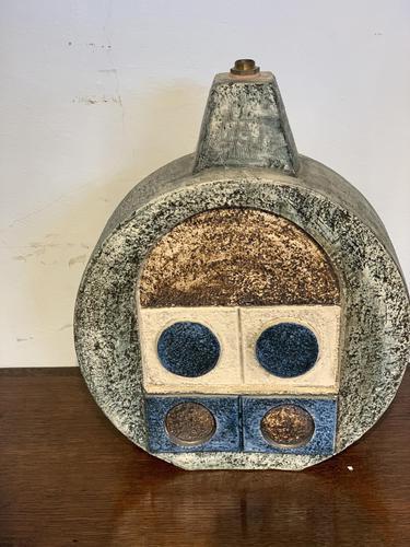 Troika Pottery Wheel Shaped Lamp Base (1 of 4)