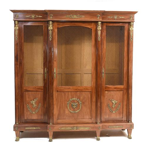 French Antique Bookcase Second Empire Bibliotheque Cabinet (1 of 20)