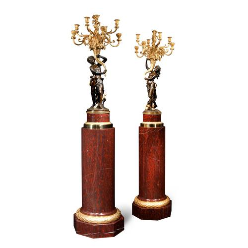 Magnificent Pair of Louis XVI Candelabra after Clodion (1 of 5)
