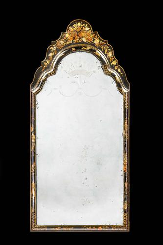 Early 18th Century Lacquered Mirror (1 of 2)