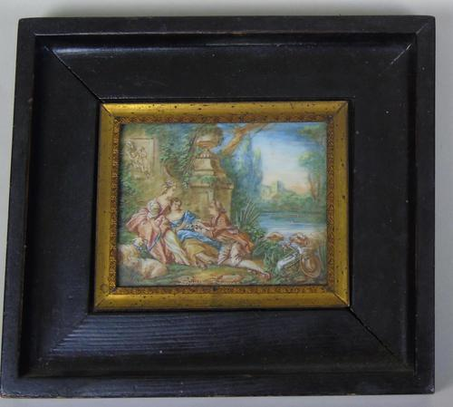 Beautiful Miniature Painting after Boucher by the Lake (1 of 6)
