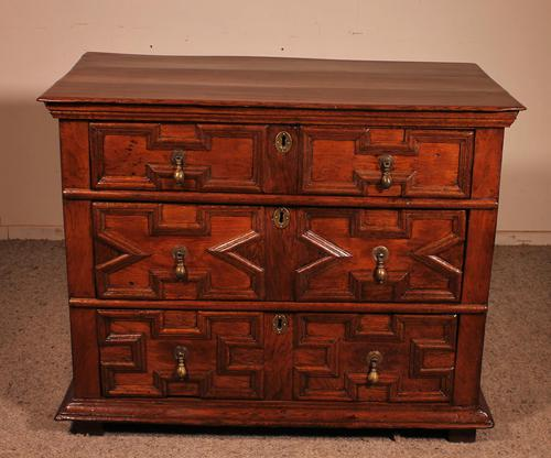 Jacobean Chest of Drawers in Oak 17th Century (1 of 11)