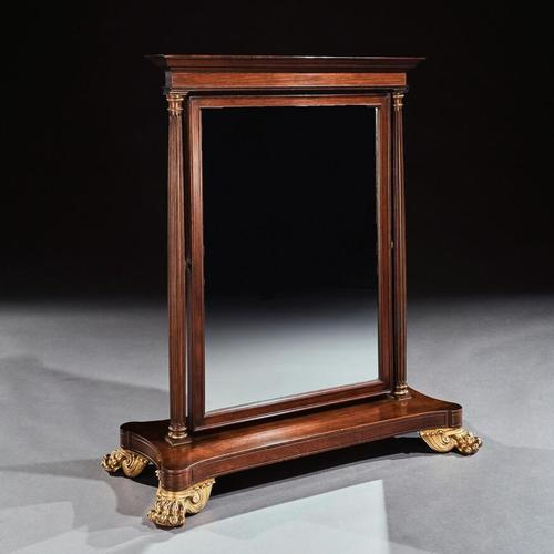 Large 19th Century French 2nd Empire Dressing Mirror (1 of 6)