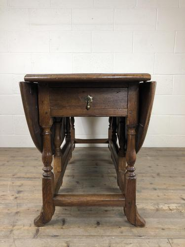 Early 20th Century Antique Oak Gateleg Dining Table (1 of 13)