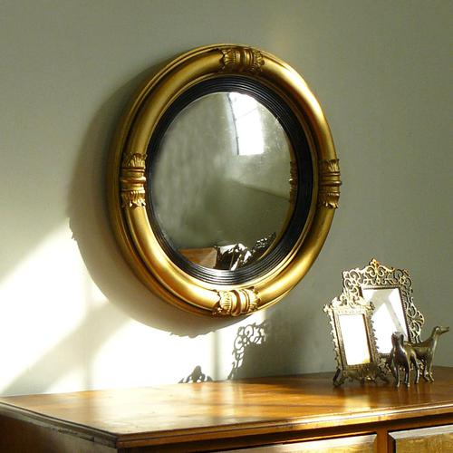 Victorian Gilt Convex Mirror (1 of 10)