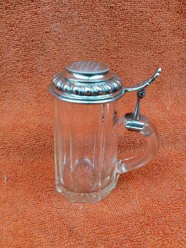 Antique Hallmarked German 800 Silver & Glass Tankard C1890 Wilhelm Binder (1 of 12)