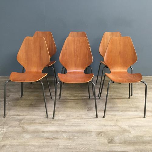 Teak 'City Chairs' by Øyvind Iversen (1 of 13)