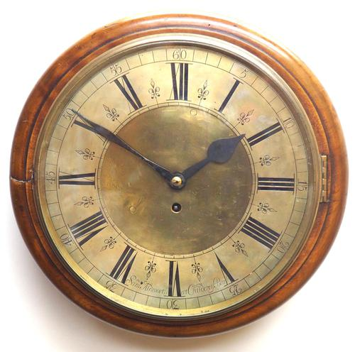 English Dial Wall Clock Rare Station Public Fusee Dial Wall Clock by Sam Aldworth at Childrey Berkshire (1 of 12)