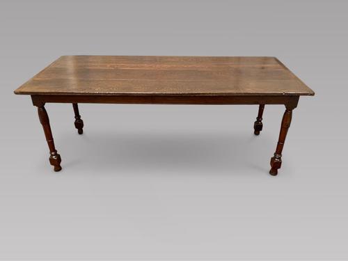 Superb Late 18th Century Oak Farmhouse Table (1 of 4)