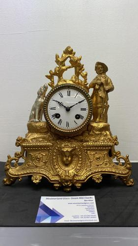 Japy Freres Gilt Mantle Clock (1 of 8)