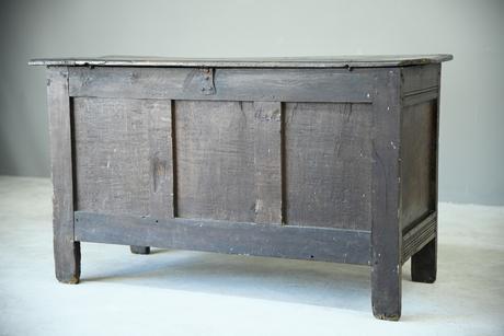 Antique 18th Century Oak Coffer (1 of 8)