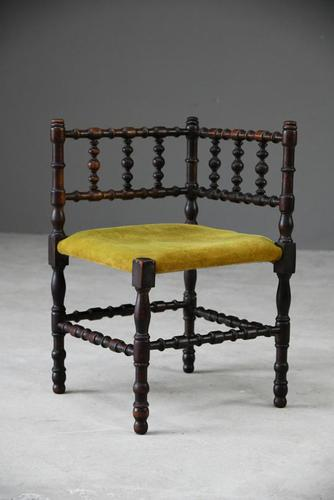 Arts & Crafts Bobbin Corner Chair (1 of 9)