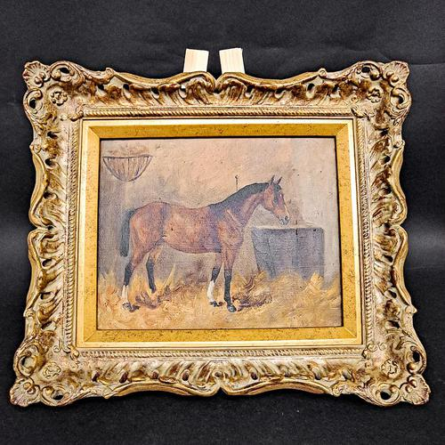 Oil on Canvas of a Chesnut Mare (1 of 4)