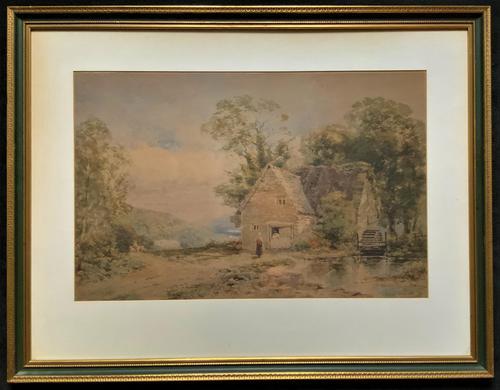 William Charles Goddard Near Saltash Cornish Landscape Painting (1 of 14)