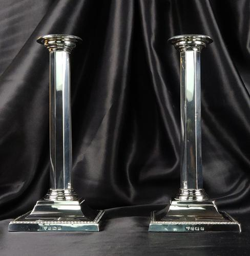 Fine Pair of Silver Candlesticks (1 of 12)