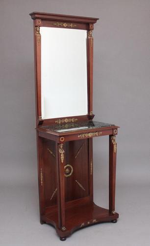 19th Century Mahogany Mirrored Consul Table (1 of 12)