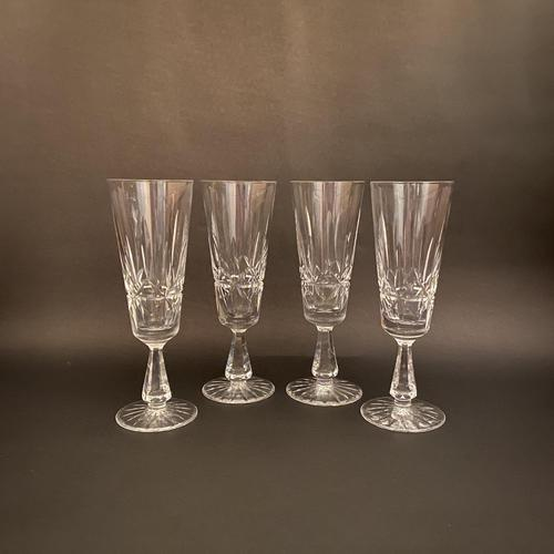 Four Waterford 'Rosslare' Champagne Flutes (1 of 1)