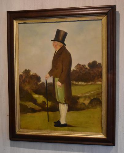 English Naive Oil Painting of Gentleman (1 of 6)