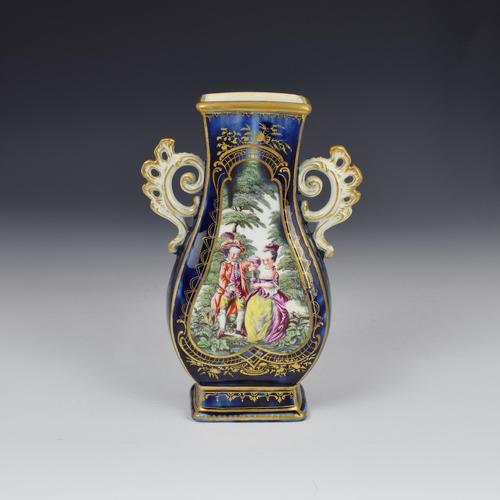 Chelsea Porcelain Gold Anchor Period Blue Ground Vase c.1765 (1 of 14)