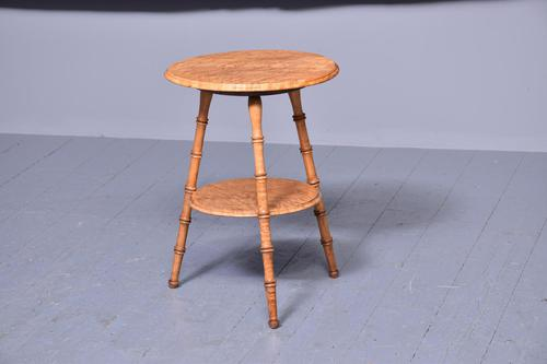 Victorian Two-tier Bird's Eye Maple Gypsy Table (1 of 5)