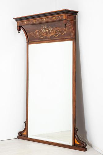 Stunning Rosewood Over Mantle Mirror (1 of 9)