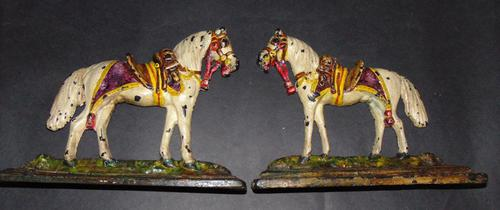 Pair of Victorian Cast Iron Horse Ornaments (1 of 6)