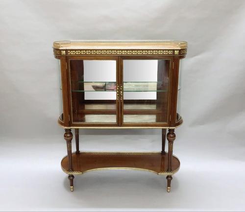 American Mahogany Glazed Display Cabinet (1 of 7)