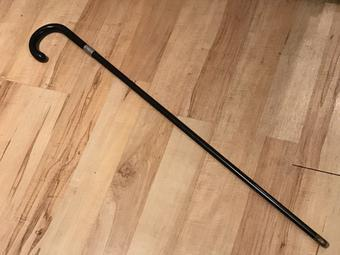 Gentleman's Walking Stick Sword Stick With Silver Collar (1 of 34)