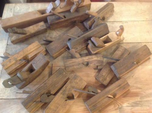 13 Various Beech Wood French Vintage Antique Wood working routing planes (1 of 6)
