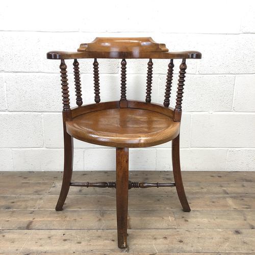 Antique Captain Style Elm Armchair (1 of 12)