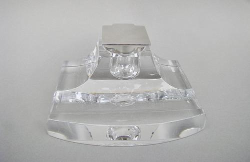 Stunning Silver Mounted Glass Inkwell by John Grinsell & Sons, Birmingham 1913 (1 of 10)