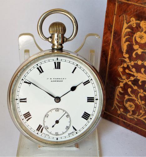 1928 Silver J.B.Yabsley, London Pocket Watch (1 of 5)