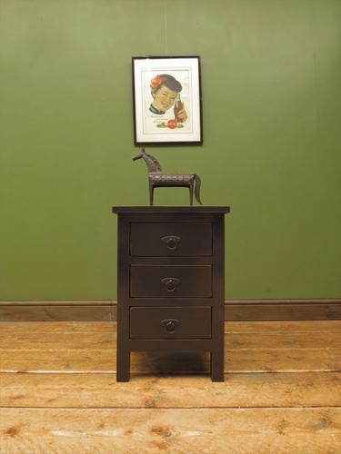 Small Black Painted Chest of Drawers (1 of 12)
