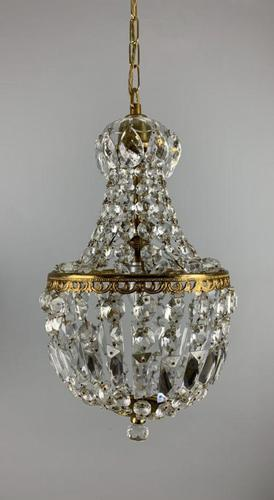 Early 20th Century Bag Chandelier, Ceiling Light, Rewired (1 of 12)