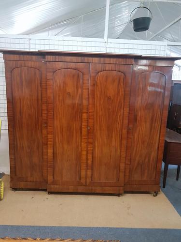 Antique Victorian Breakfront Wardrobe (1 of 6)