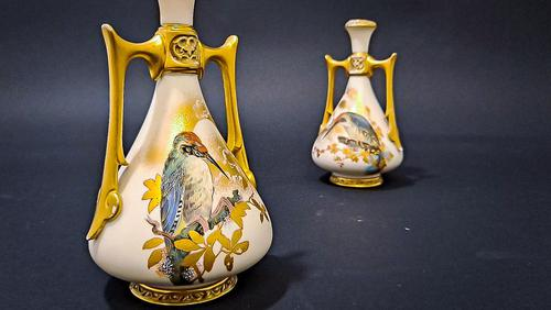 Pair of Royal Worcester Vases (1 of 6)
