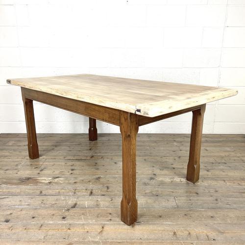 Antique Oak Scrub Top Kitchen Table (1 of 11)