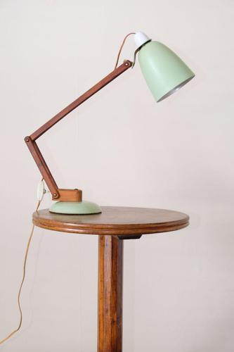MacLamp designed by Terence Conran for Habitat 1960's anglepoise table lamp in pastel green (1 of 9)