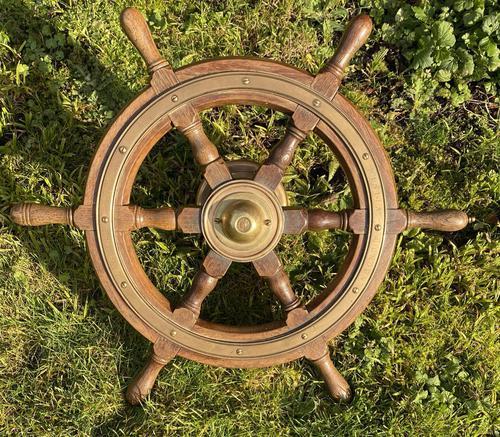 Oak & Brass Ships Wheel (1 of 11)