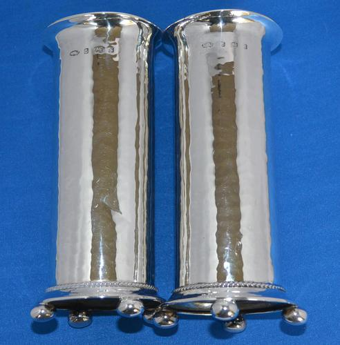 Fine Pair of Arts & Crafts Cylindrical Vases (1 of 5)