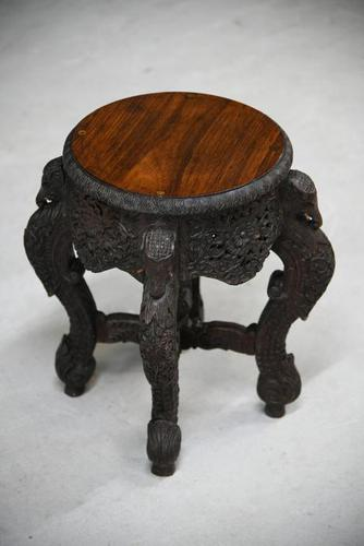 Anglo Indian Padouk Side Table (1 of 11)
