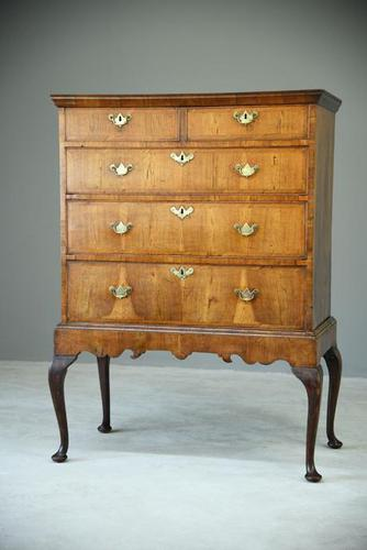 Antique Walnut Chest on Stand (1 of 9)