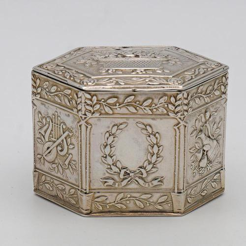 German silver peppermint or snuff box c.1880 (1 of 4)