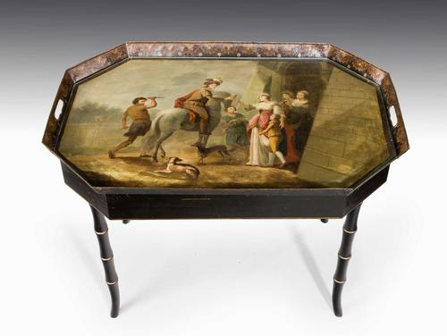 Mid-19th Century Tole Tray Table (1 of 5)